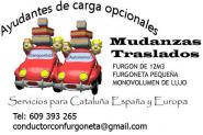 Chofer con Furgoneta en Barcelona para Mudanzas