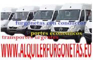 TRANSPORTE DE MERCANCIAS Y MUDANZAS EN FURGONETAS
